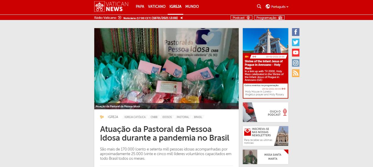 vatican news 18-01 destaque